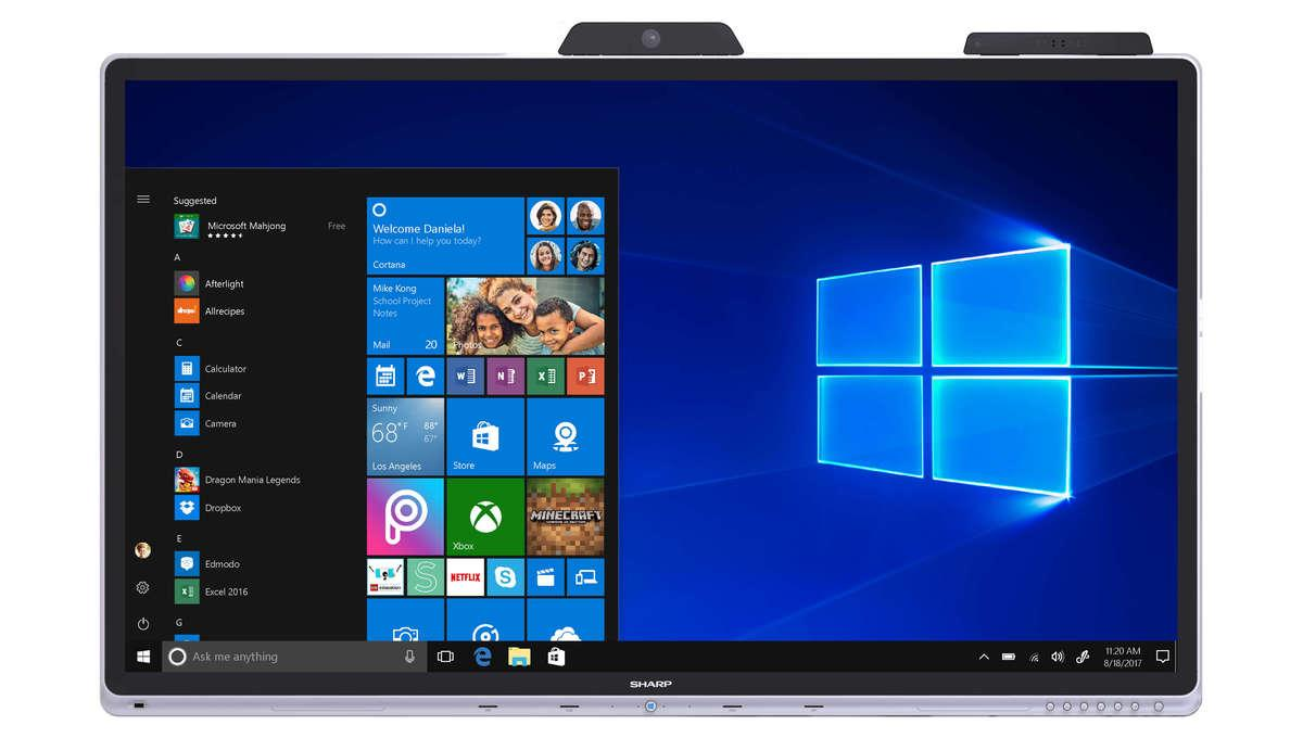 Sharp Windows Collaboration Display Windows 10